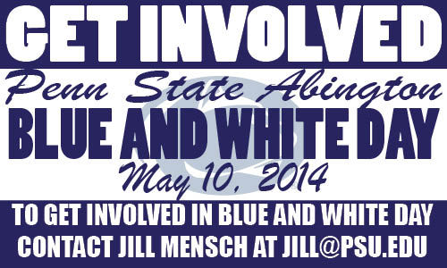 Blue and White Day graphic
