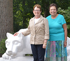 Jackie and Brenda at Lion Shrine