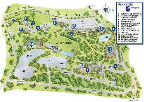 Penn State Tour Map