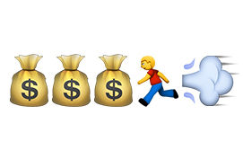 your money counts emojis