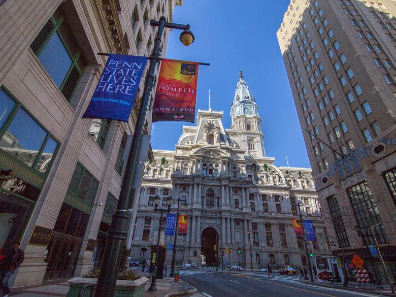 Penn State lives here signs in Philadelphia City