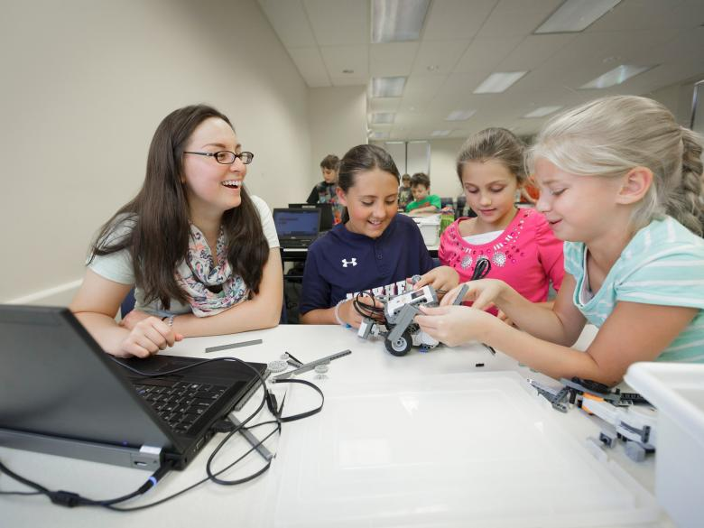 Kids from Penn State Abington's Youth & Teen College Camps