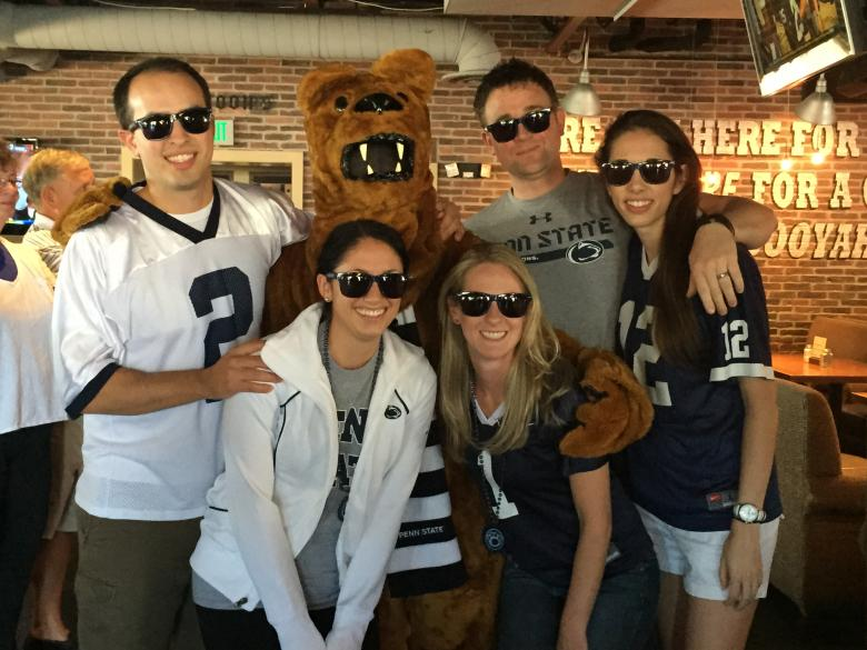 Alumni at Penn State Football Watch Party