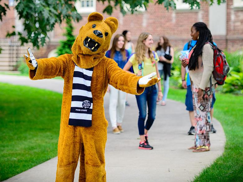 Lion welcoming on college pathway
