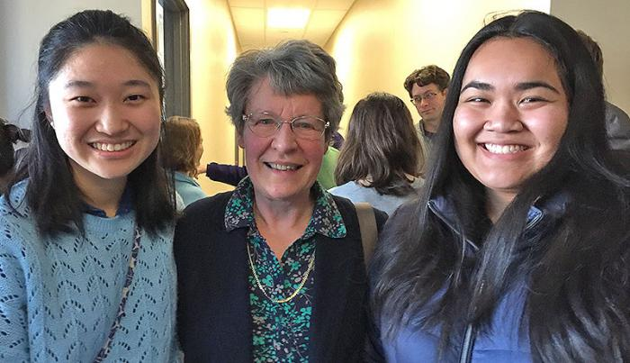 ACURA students with Jocelyn Bell Burnell