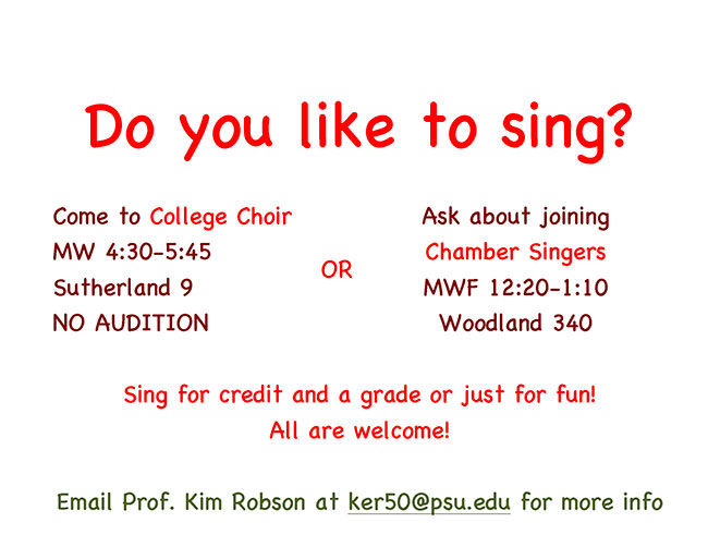 Do you like to sing?