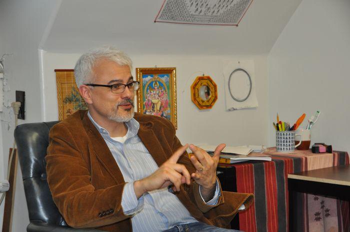 Dr. Salguero in his office