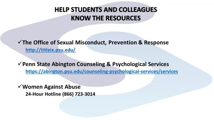 help students and colleagues know resources