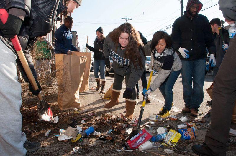 Clean up in Philadelphia.