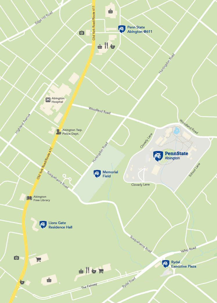 Campus Map Penn State Abington - Map of penn