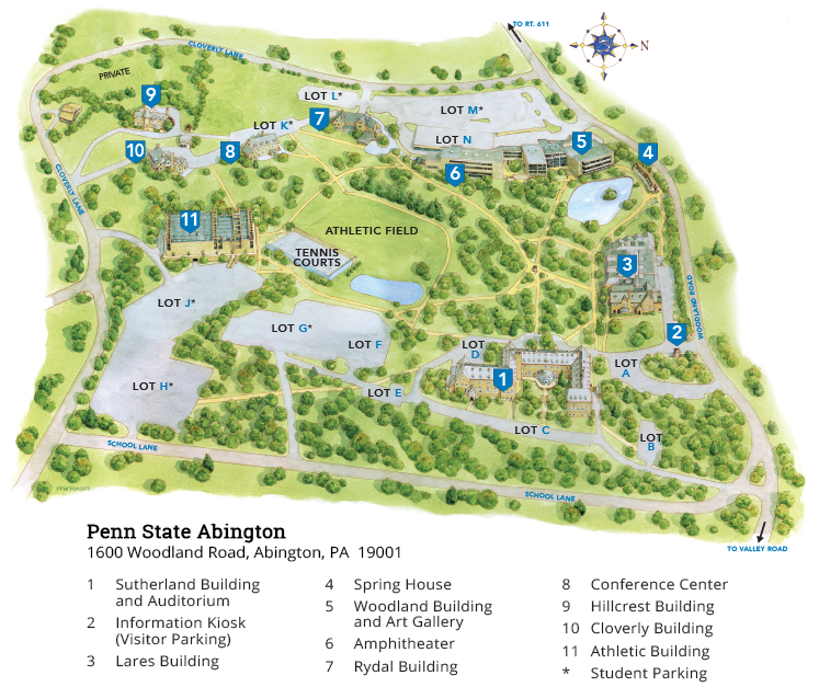 Campus Map Penn State Abington
