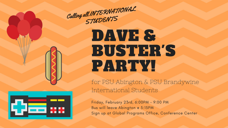 Dave and Busters Party