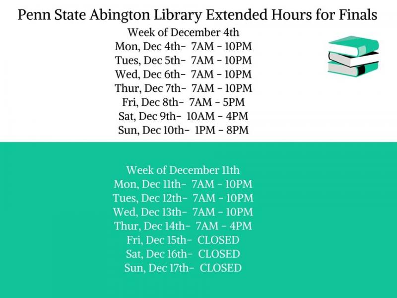 extended library hours graphic