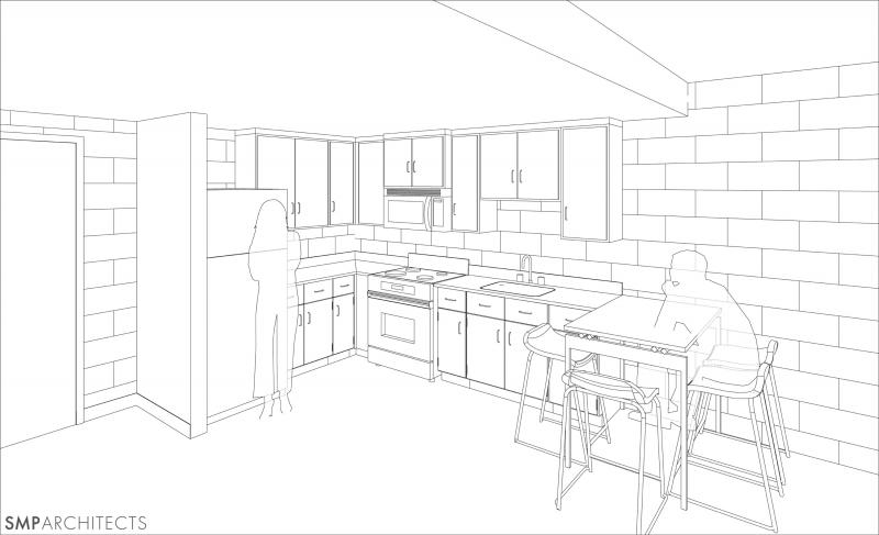 residence hall kitchen