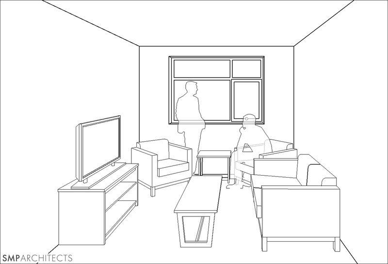 living room residence hall