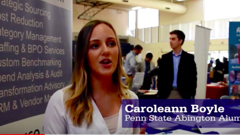 Abington alumna career services
