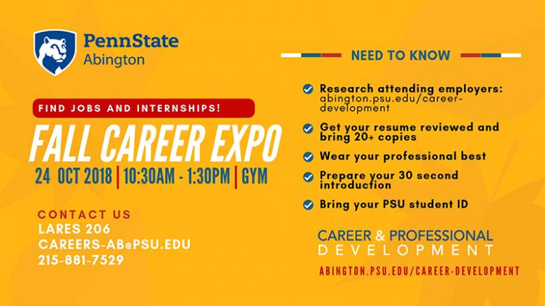 Abington Fall career Expo 2018