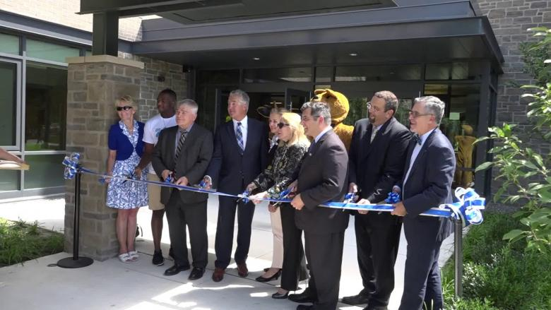 Ribbon Cutting at Penn State Abington's First Residence Hall